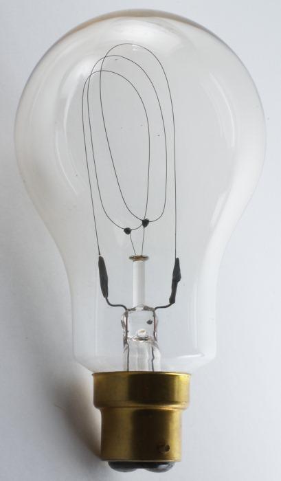 claude visseaux triple loop carbon filament bulb. Black Bedroom Furniture Sets. Home Design Ideas