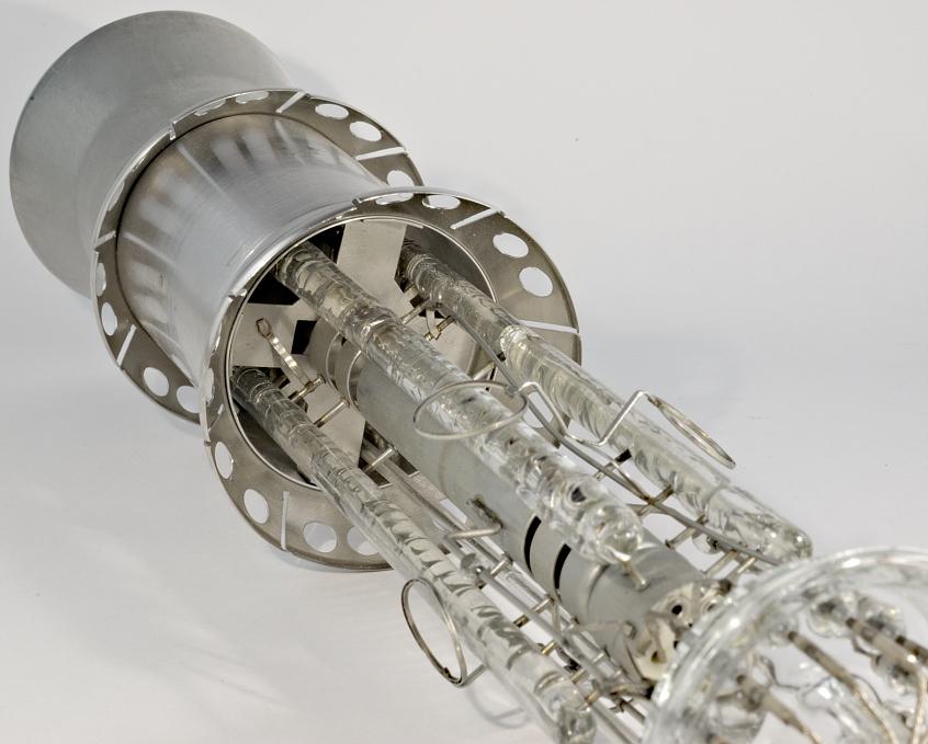 Electron Gun Assembly : Csf storage tube electron gun and deflection plates assembly